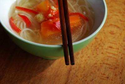 supa cu ghimbir si paste din orez 12